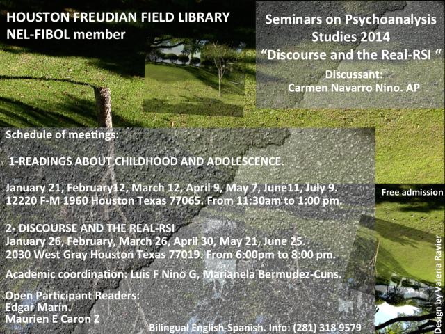 Houston Freudian Field Library readings on Childhood and adolescense